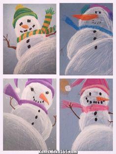 Snowman Perspective Drawing - - Snowman Perspective Drawing Basteln mit Kindern im Winter – Weihnachten Snowman Perspective Drawing Christmas Art Projects, Winter Art Projects, School Art Projects, Art 2nd Grade, Arte Elemental, Classe D'art, January Art, December, Art Lessons Elementary