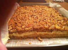 Pyszne miodowo - orzechowe ciasto przekładane masą budyniową. Mala blacha. Miekkie maslo dodajemy do zimnego budyniu