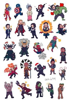 Assemble || Avengers Infinity War || Guardians of the galaxy, Thor, Captain America, Iron Man, Spider-Man, Black Panther, Scarlet witch, Dr. Strange, Hulk || Cr: Sin_la999