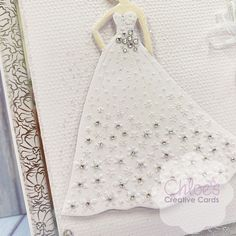 Chloes Creative Cards Craft, Cardmaking and Papercraft Supplies Chloes Creative Cards, Stamps By Chloe, Create And Craft Tv, Floral Dress Design, Chloe Fashion, Dress Card, Cardmaking And Papercraft, Embossing Folder, Paper Crafts