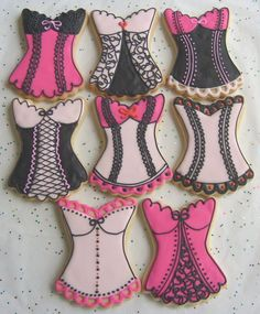 CORSET  Cookies - Corset Decorated Cookies -Bachelorette Party Cookie Favors - Bridesmaid Cookie Favors - 3.50 each. $3.50, via Etsy.
