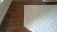 hardwood floor with carpet inlay - Google Search