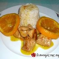 Κοτόπουλο με πορτοκάλι και μέλι Sausage, Cooking Recipes, Chicken, Meat, Smoothie, Food, Projects, Log Projects, Blue Prints