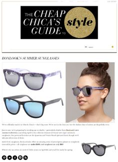 "Our Wall of Fame ☺ | BonLook - The Cheap chicka's guide to style ""Just in case, we're preparing by stocking up on shades – particularly shades from Bonlook's new summer collection. Launching April 6, the collection features 25 brands new super summery sunglasses."""