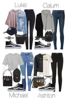 """5SOS Styles: VANS Old Skool Sk8 Hi"" by fivesecondsofinspiration ❤ liked on Polyvore featuring Vans, Topshop, Hartford, Forever 21, J Brand, Casio, James Perse, T By Alexander Wang, Yves Saint Laurent and Gucci"