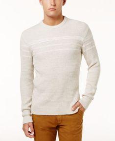 American Rag Men's Marl-Knit Sweater, Created for Macy's - Tan/Beige 2XL