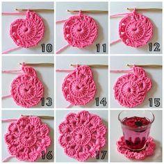 Piece of a Cookie Marque-pages Au Crochet, Mandala Au Crochet, Beau Crochet, Crochet Bunting, Crochet Motifs, Crochet Food, Manta Crochet, Crochet Blocks, Love Crochet