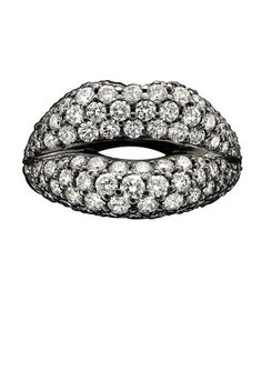 Solange Azagury Partridge diamond Hot Lips #jewels #lips #ring