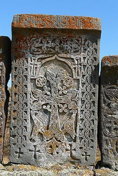 The oldest khachkars in the cemetery date back to the late 10th century.[1] During the revival of the khachkar tradition in the 16-17th centuries many khachkars were built under the yoke of the Safavid Empire when oriental influences seeped into Armenian art. Three master carvers from this period carved khachkars in Noraduz, the most notable of whom was Kiram Kazmogh (1551-1610), his contemporaries were Arakel and Meliset