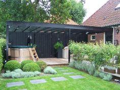 New Backyard Hot Tub Gazebo Ideas Hot Tub Gazebo, Hot Tub Backyard, Backyard Patio, Garden Gazebo, Terrace Garden, Back Gardens, Outdoor Gardens, Outdoor Landscaping, Landscaping Ideas