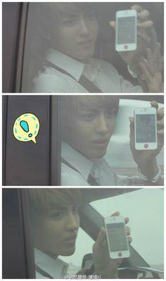 - EXO - Kris confirmed he has himself as his wallpaper