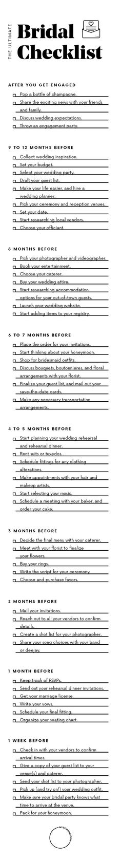 How to prepare for your wedding