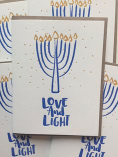 Hanukkah Cards /  Set of 6 / Hanukkah Hand by DeLuceDesign on Etsy
