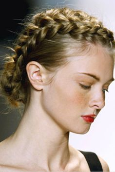 French braids into a bun