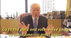 New trendy GIF/ Giphy. donald trump vote voting election day election day 2016. Let like/ repin/ follow @cutephonecases