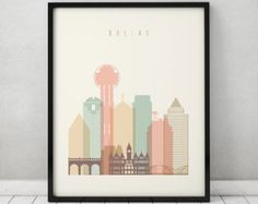 London print Poster Wall art cityscape London by ArtPrintsVicky