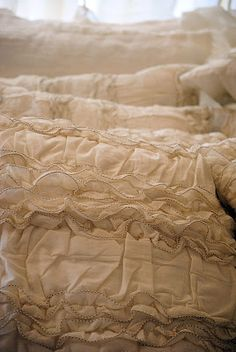 New Vintage Ruffled Linens