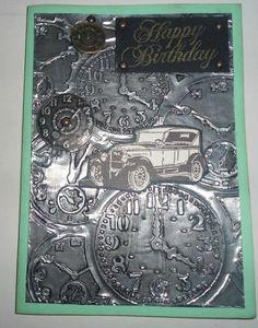 Vintage Car Card - Scrapbook.com