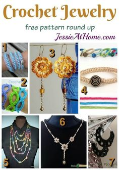 Crochet Jewelry free pattern round up from Jessie At Home: