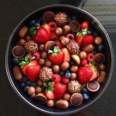 Brownie med dumle og hvid chokolade