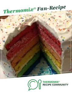Rainbow Cake by Russella. A Thermomix <sup>®</sup> recipe in the category Baking - sweet on www.recipecommunity.com.au, the Thermomix <sup>®</sup> Community.