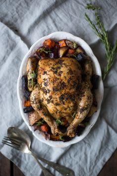 Herby Slow Roast Chicken & Veg