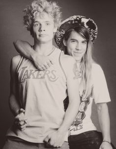 Anthony Kiedis with Flea <3 #brotherfromanothermother <3 #tight