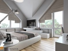 Интерьер спальни / Bedroom / Bedroom ideas / Bedroom color / Bedroom decor / Bedroom design / by Pevel Polinov Studio #design #interior #homedecor #interiordesign