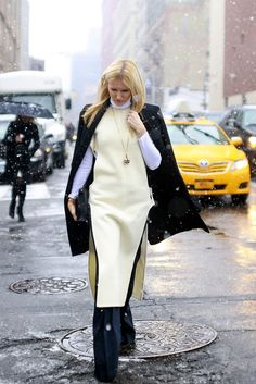 Fashion finery on the streets of New York City during New York Fashion Week.  The editor Kate Davidson Hudson outside the 3.1 Phillip Lim show at Skylight Clarkson North. Craig Arend for The New York Times