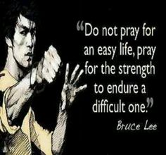 Bruce Lee quote: going in a frame for my hubby's office