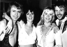 Ok, I'll get this started with one of my favourite photos of ABBA - although there are so many that I love.  The velvet jumpsuits were always so beautiful to me - one of my absolute favourites  :)