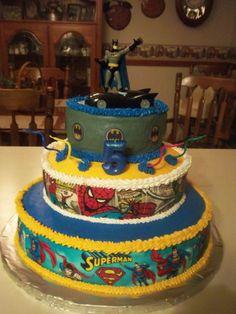 Grandson's super hero birthday cake