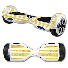 MightySkins Protective Vinyl Skin Decal for Hover Board Self Balancing Scooter mini 2 wheel x1 razor wrap cover sticker Gold Stripes >>> Check out this great product.
