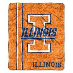Illinois Fighting Illini NCAA Sherpa Throw (Jersey Series) (50in x 60in)