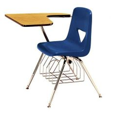 """Scholar Craft 427-BR 420 Series Chair Desk w/ Book Basket (17-1/2"""" H) by Scholar Craft. $96.95. 420 Series Classroom Chair and Desk Combos by Scholar Craft come with ergonomically designed shells and spread out tablet arm desktops. The finely contoured shells offer pain-free seating to students and are wide enough to suit different body profiles. A crossover leg style keeps the chairs sturdy in any posture. The book basket helps in book and supplies storage, keeping the..."""
