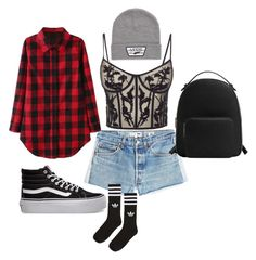 """Drake's"" by havelinka on Polyvore featuring RE/DONE, Alexander McQueen, Vans, adidas and MANGO"