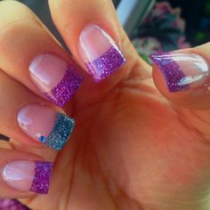 Purple and teal! New nails of mine:)