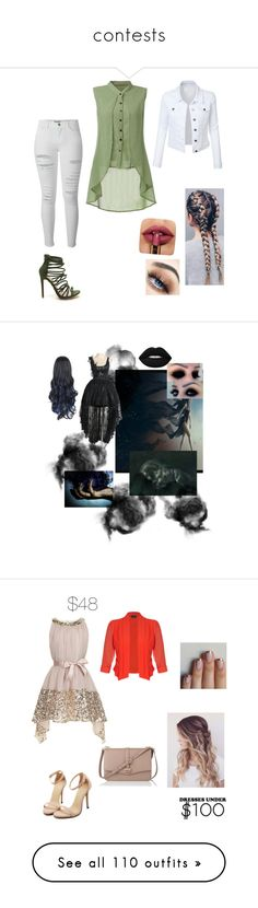 """""""contests"""" by lynx-lupus ❤ liked on Polyvore featuring LE3NO, Frame, Monsoon, L.K.Bennett, City Chic, Topshop, Pelle Moda, Anastasia Beverly Hills, H&M and Simplex Apparel"""