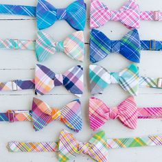 The Beau - mens freestyle preppy plaid bow ties-
