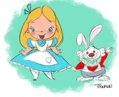 Alice & The White Rabbit by Steve Thompson [©2015]