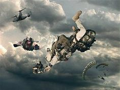 Pararescue jumpers from the Air Force Special Ops Command