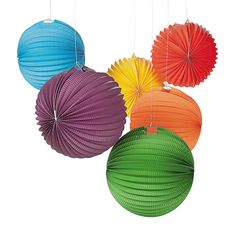 Solid Color Balloon Lanterns - OrientalTrading.com (put faces on them)