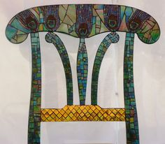 Mosaic Glass Peacock Chair by FORTIERgallery on Etsy! LOVE!!