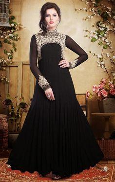 Picture of Unique Black Fashion Designer Gown