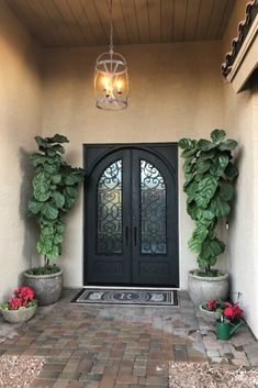 Add instant luxury to your entryway with a new wrought iron door. Head to the Iron Doors Arizona website to see more beautiful designs. Indian Room Decor, Door Design, House Design, Wrought Iron Doors, Front Entrances, Entrance Doors, Curb Appeal, Arizona, Entryway