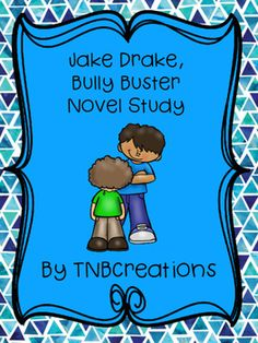 Jake Drake, Bully Buster by Andrew Clements is a great story that your students will enjoy reading!  In this product you will receive printable worksheets that can be made into a booklet including a cover page, chapter-by-chapter reading comprehension questions, a worksheet reviewing characters, setting, problem, solution, and summary , a my rating page, and an unscramble worksheet. Each worksheet contains space for student response, and separate answer keys are provided for the teacher.