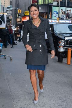 A classic trench coat is a wardrobe staple. (Robin Roberts)