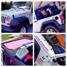 Pink jeep but no butterflies