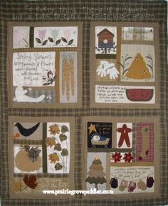 Prairie Grove Peddler Folk Art Quilt, Holiday Cross Stitch & Craft Patterns, Columbia, MO