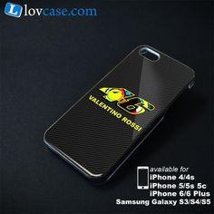 Valentino Rossi 46 Carbon Phone Case | Apple iPhone 4/4s 5/5s 5c 6 6 Plus Samsung Galaxy S3 S4 S5 S6 S6 EDGE Hard Case